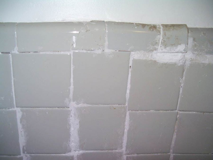 Grout like this needs to be removed!