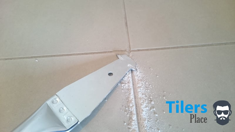 remove grout from ceramic tile