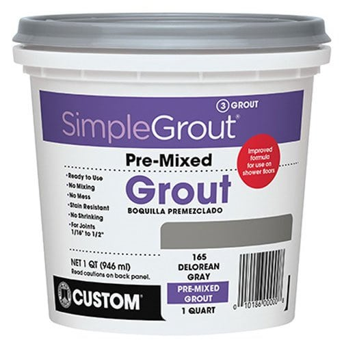 Bucket of ready mixed grout