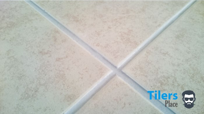 Grout haze was very easy to remove on these ceramic tiles. Just a quick wipe with a cotton rag got rid of all of it.