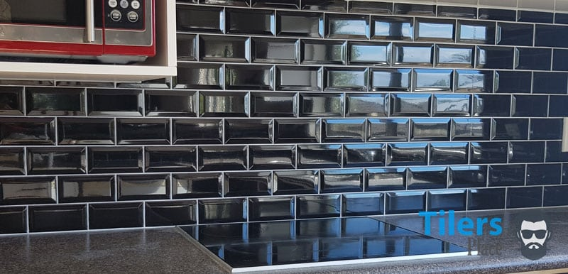 This is a subway tile splashback I completed with a Rubi Star tile cutter. It cut the beveled subway tiles with no problem and I got clean cuts all day.