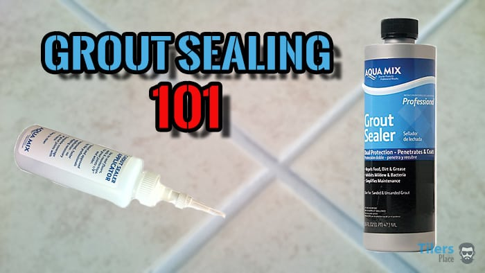 Grout sealing is easy with the right tools.