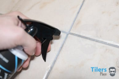 Applying grout sealer