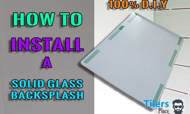 How to Install A Solid Glass Backsplash In 3 Easy Steps