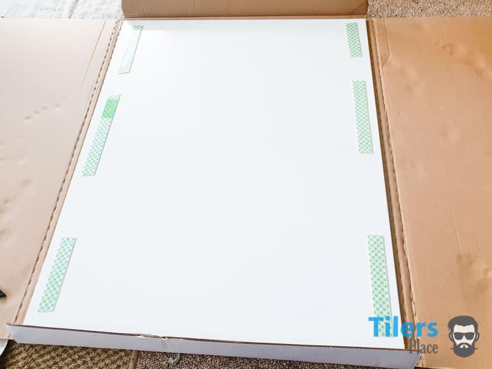Add Double Sided Tape With A 2inch Gap On The Edges